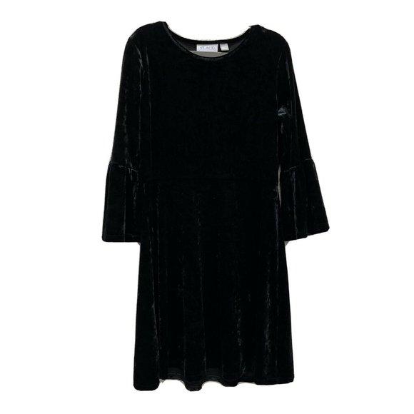Children's Place Girls XL 14 Black Velvet Dress